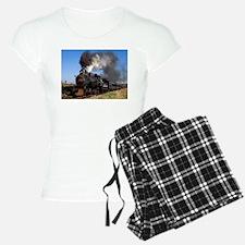Antique steam engine train Pajamas