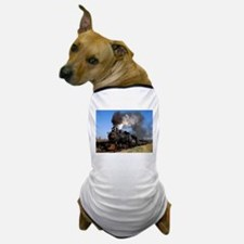 Antique steam engine train Dog T-Shirt