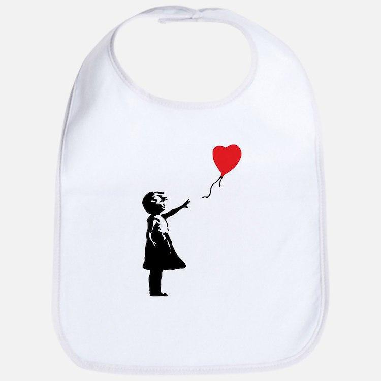 Banksy - Little Girl with Ballon Bib