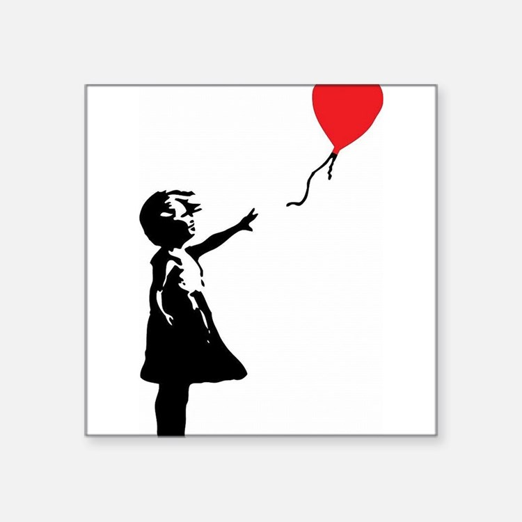 Banksy - Little Girl with Ballon Sticker