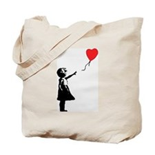 Banksy - Little Girl with Ballon Tote Bag