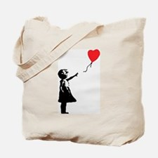 Banksy - Little Girl with Ballon Tote Bag