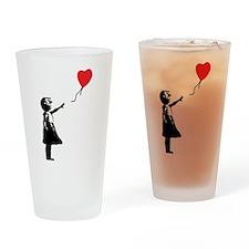 Banksy - Little Girl with Ballon Drinking Glass