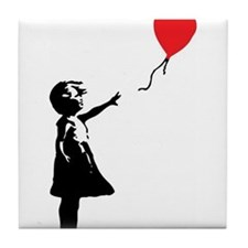 Banksy - Little Girl with Ballon Tile Coaster