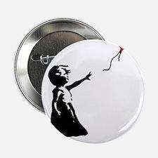"""Banksy - Little Girl with Ballon 2.25"""" Button"""