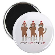 "Monkey See Monkey Do 2.25"" Magnet (100 pack)"