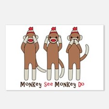 Monkey See Monkey Do Postcards (Package of 8)