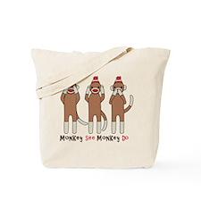 Monkey See Monkey Do Tote Bag