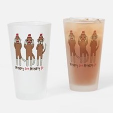 Monkey See Monkey Do Drinking Glass
