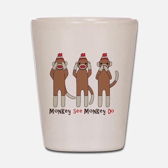 Monkey See Monkey Do Shot Glass