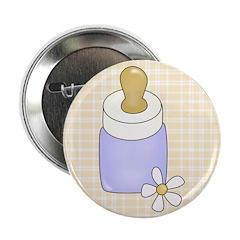 Blue Baby Bottle Button