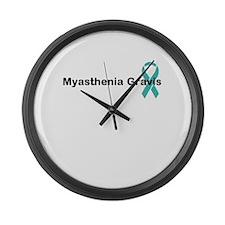 Myasthenia Gravis Awareness Large Wall Clock
