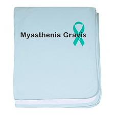 Myasthenia Gravis Awareness baby blanket