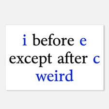 I Before E Except After C Weird Postcards (Package