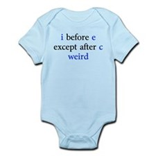 I Before E Except After C Weird Body Suit