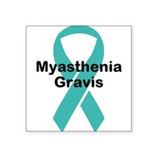 "Myasthenia Gravis Awareness Square Sticker 3"" x 3"""