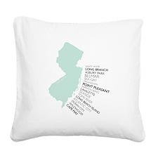 NJ SHORE Square Canvas Pillow