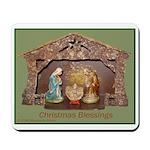 Christmas Blessings, Little Creche Mousepad