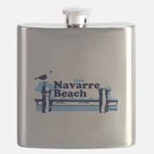 Sanibel Island - Varsity Design. Flask
