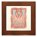 Hope Butterfly Uterine Cancer Framed Tile