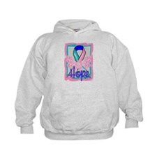 Hope Butterfly Thyroid Cancer Hoodie