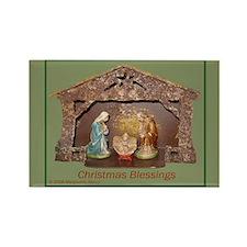 Christmas Blessings, Little Creche Rectangle Magne