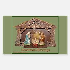 Christmas Blessings, Little Creche Decal