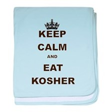 KEEP CALM AND EAT KOSHER baby blanket