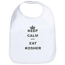 KEEP CALM AND EAT KOSHER Bib