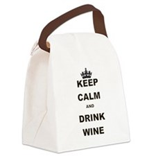KEEP CALM AND DRINK WINE Canvas Lunch Bag