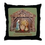 Christmas Blessings, Little Creche Throw Pillow