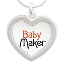 Baby Maker Silver Heart Necklace