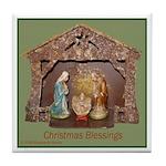 Christmas Blessings, Little Creche Tile Coaster