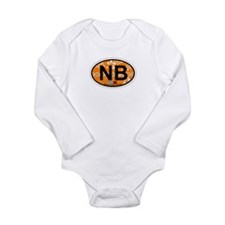 Navarre Beach - Oval Design Long Sleeve Infant Bod