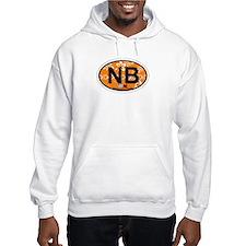 Navarre Beach - Oval Design Hoodie Sweatshirt