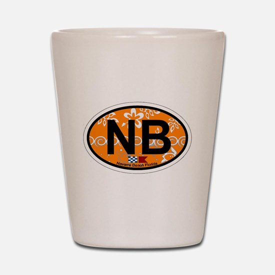 Navarre Beach - Oval Design Shot Glass