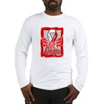 Hope Butterfly Oral Cancer Long Sleeve T-Shirt