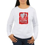 Hope Butterfly Oral Cancer Women's Long Sleeve T-S