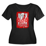 Hope Butterfly Oral Cancer Women's Plus Size Scoop