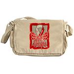 Hope Butterfly Oral Cancer Messenger Bag