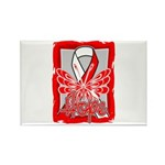 Hope Butterfly Oral Cancer Rectangle Magnet (10 pa