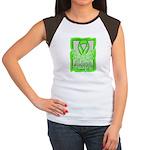 Butterfly Non-Hodgkins Lymphoma Women's Cap Sleeve