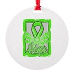 Butterfly Non-Hodgkins Lymphoma Round Ornament