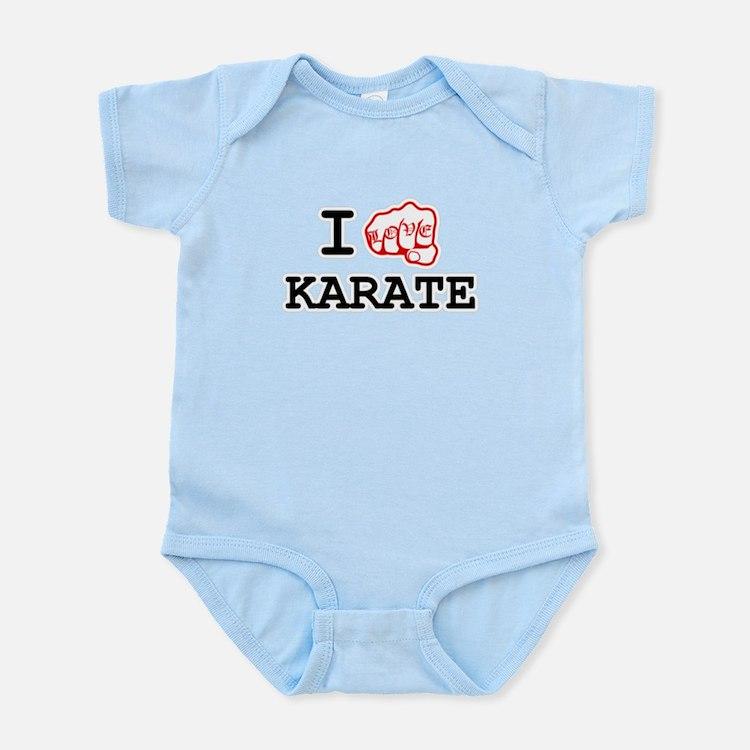 I love Karate Infant Bodysuit