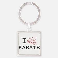 I love Karate Square Keychain