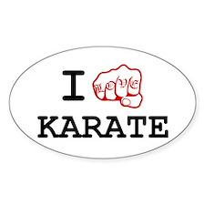 I love Karate Decal
