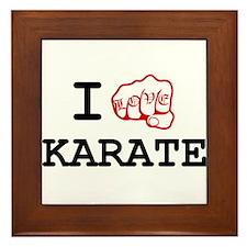 I love Karate Framed Tile