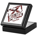Cross country running Square Keepsake Boxes