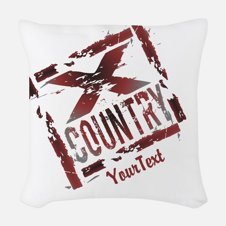 Customize XC Cross Country Woven Throw Pillow