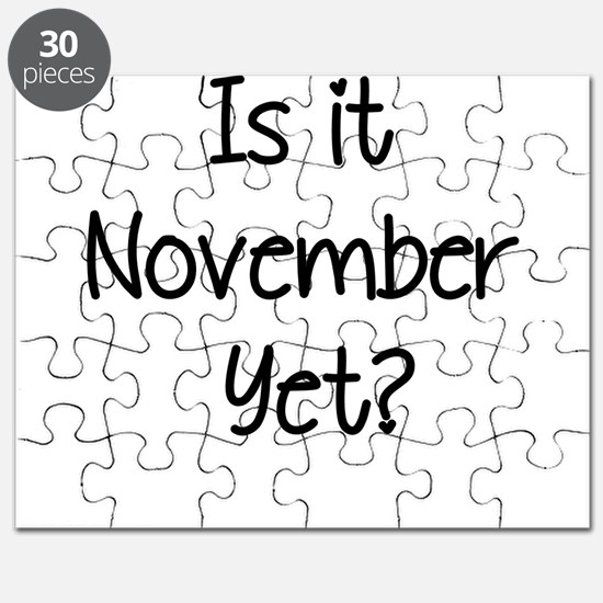 IS IT NOVEMBER YET? Puzzle